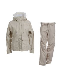 Foursquare Peterson Jacket Sandstone Hatch w/ Foursquare Kim Pants Sandstone Hatch