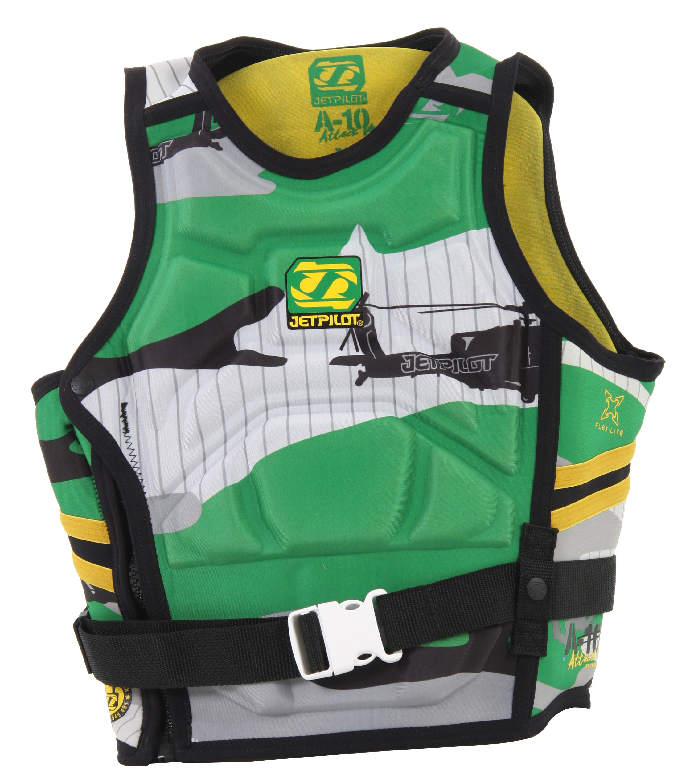 Shop for Jet Pilot A-10 Molded S/E Comp Wakeboard Vest Green - Men's