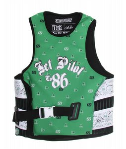 Jet Pilot OG Comp Wakeboard Vest w/ Utak Lining Green