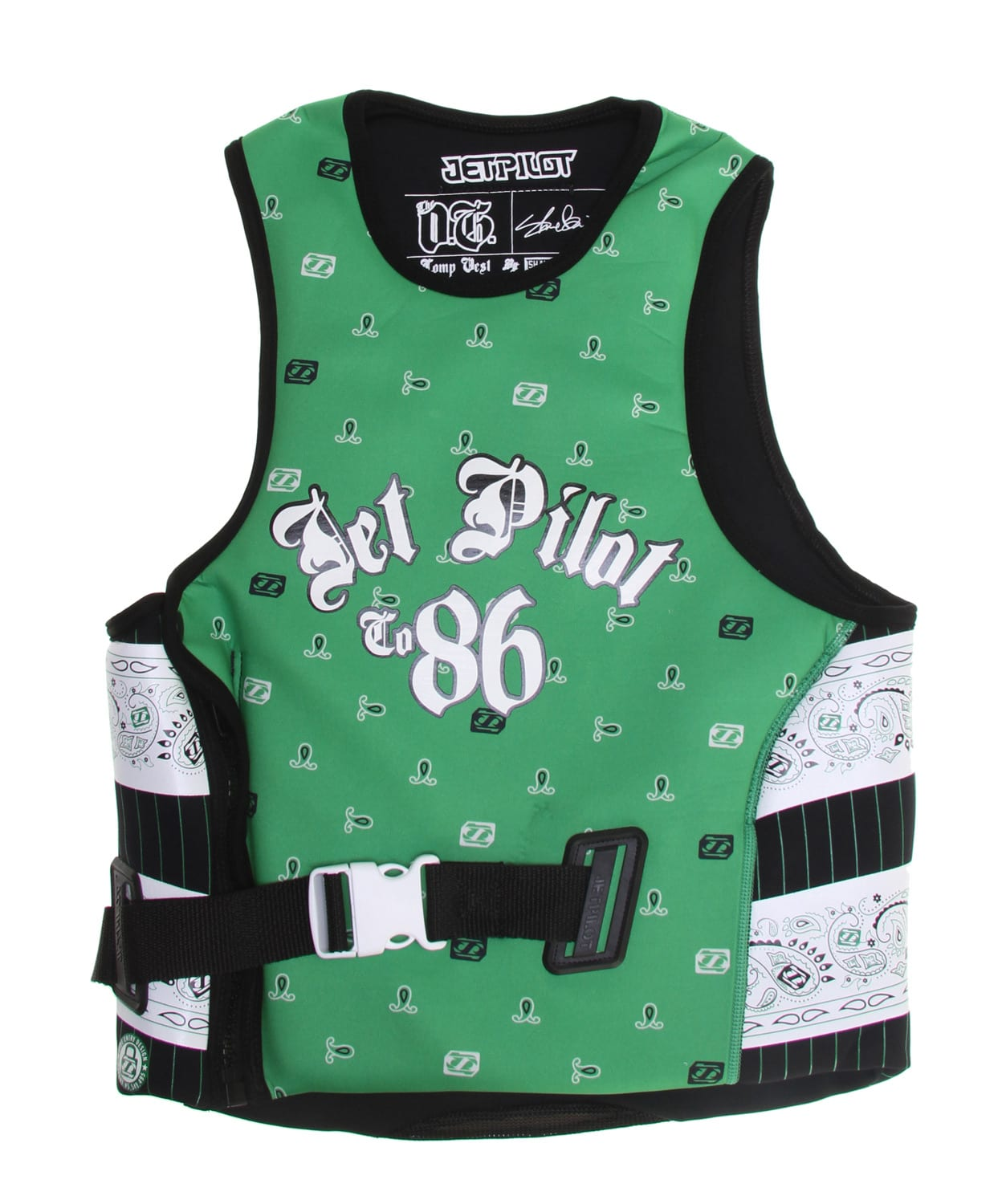 Shop for Jet Pilot OG Comp Wakeboard Vest w/ Utak Lining Green - Men's
