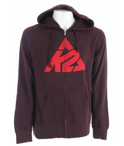 K2 Branded Logo Full Zip Hoodie Blackberry