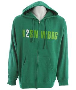 K2 Burroughs Zip Hoodie Kelly Green Heather