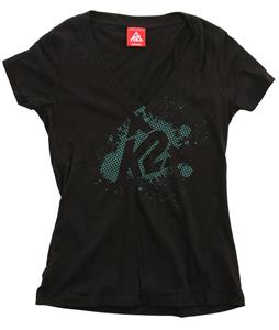 K2 Dot V Neck T-Shirt Black