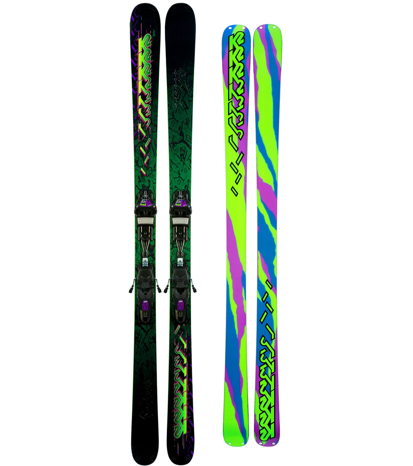 K2 Extreme Skis w Marker Griffon Schizofran Bindings Mens (product not