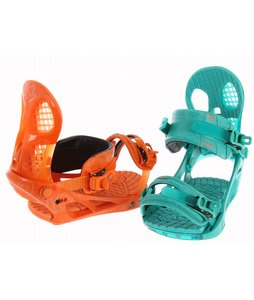 K2 Hurrithane Snowboard Bindings Orange Teal