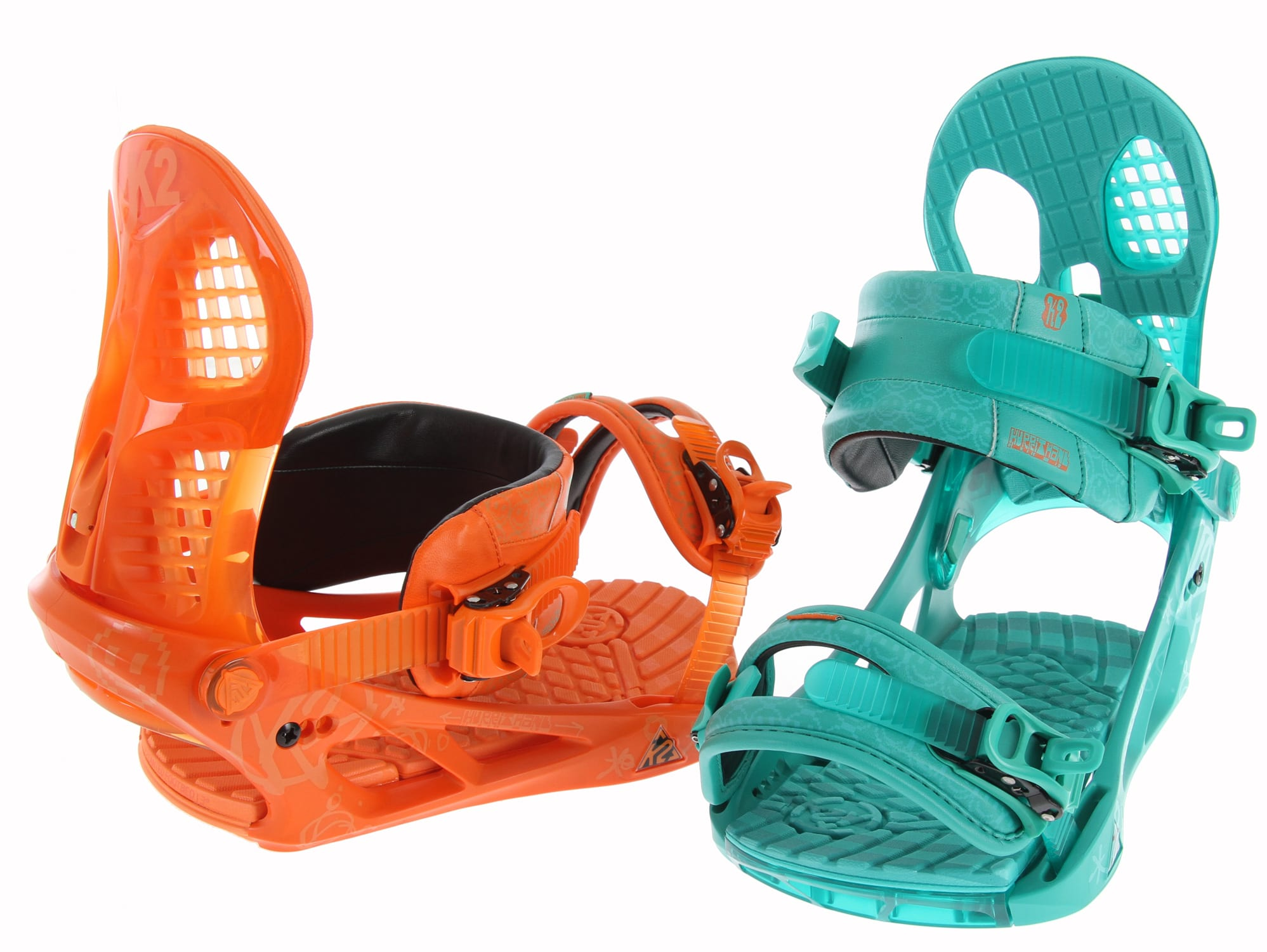 Shop for K2 Hurrithane Snowboard Bindings Orange Teal - Men's