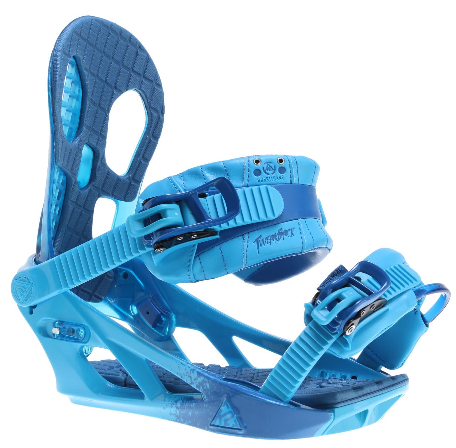 K2 Hurrithane Snowboard Bindings Blue Mens Sz M (5-8)