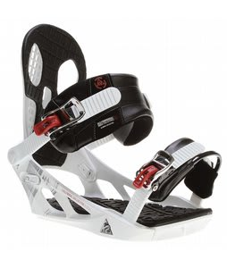 K2 Indy Snowboard Bindings White