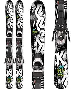 K2 Indy Skis w/ Marker Fastrak2 7 Bindings