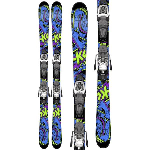 K2 Juvy Kids Skis w/ Marker Fastrak2 7 Bindings