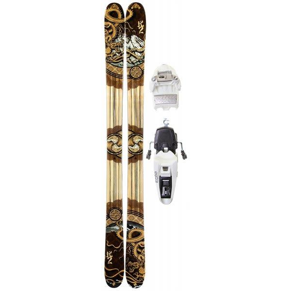 K2 Kung Fujas Skis w/ Marker Squire 11.0 Shizofrantic Bindings