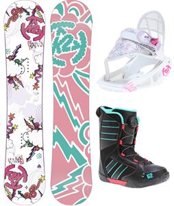 K2 Lil Kandi Grom Pack Snowboard 110 w/ Boots/Bindings