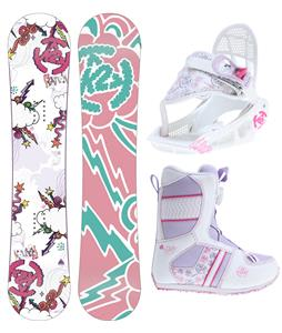 K2 Lil Kandi Grom Pack Snowboard 100 w/ Boots/Bindings