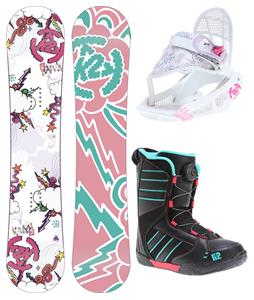 K2 Lil Kandi Grom Pack Snowboard 120 w/ Boots/Bindings