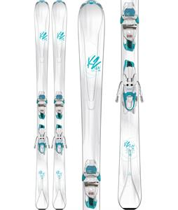 K2 Luvit 76 Skis w/ Marker ER3 10 Compact Bindings