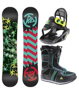 K2 Mini Turbo Grom Pack Snowboard 110 w/ Boots/Bindings