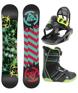 K2 Mini Turbo Grom Pack Snowboard 120 w/ Boots/Bindings