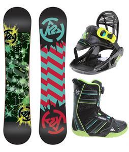 K2 Mini Turbo Grom Pack Snowboard 120 w/ Boots/Bindings