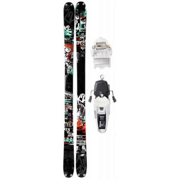 K2 Recoil Skis w/ Marker Squire 11.0 Schizofrantic Bindings