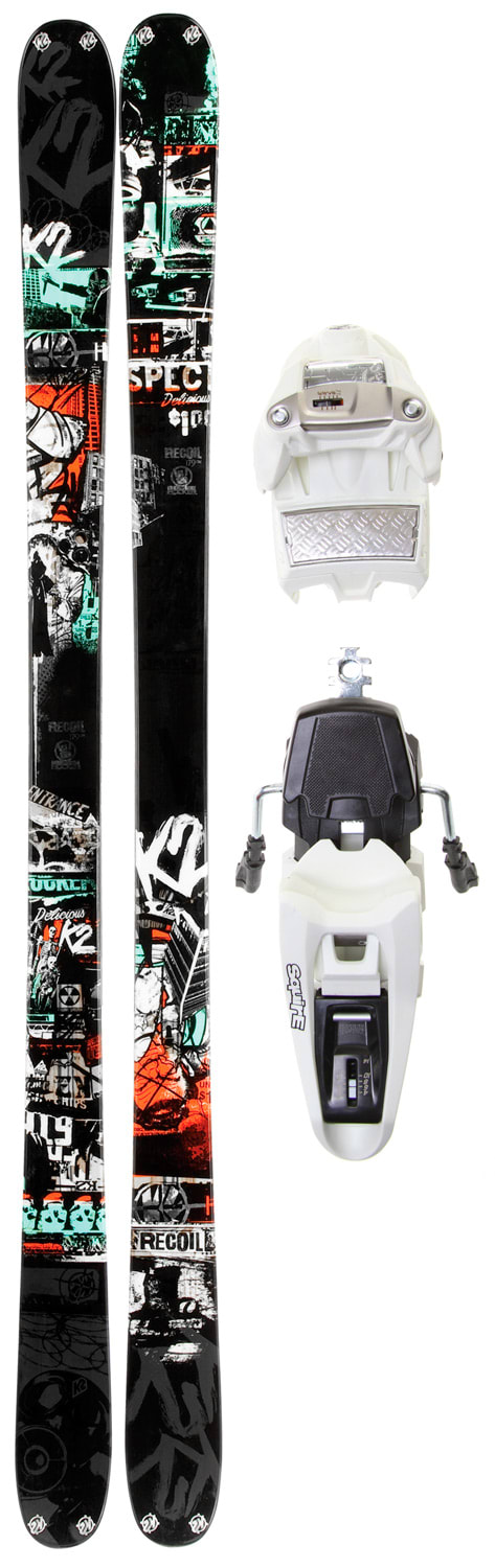 Shop for K2 Recoil Skis w/ Marker Squire 11.0 Schizofrantic Bindings - Men's