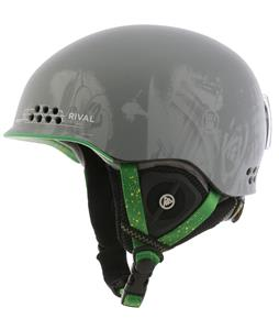 K2 Rival Pro Ski Helmet Grey Pop