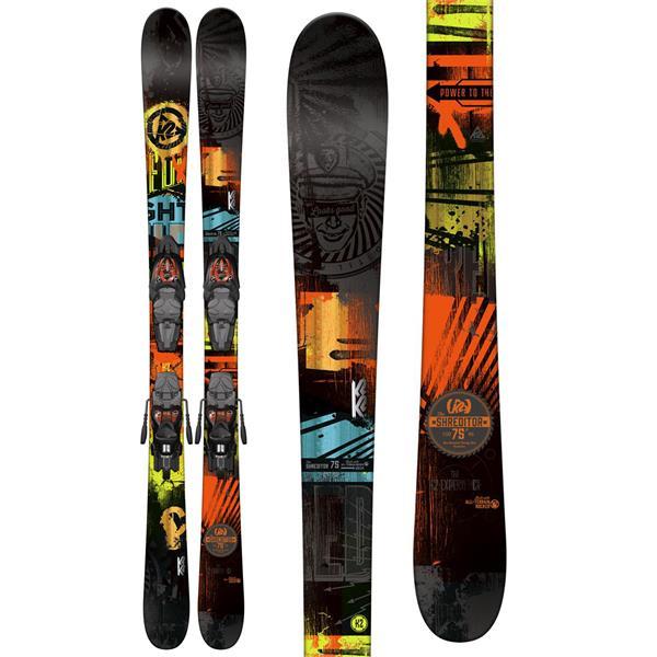K2 Shreditor 75 Jr Skis w/ Marker Fastrack2 4.5 Bindings