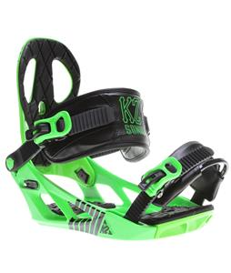 K2 Sonic Snowboard Bindings Green