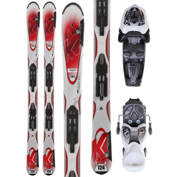 K2 Strike Jr Skis w/ Marker Fastrak2 7.0 Bindings