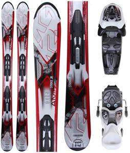 K2 Strike Jr Skis w/ Marker Fastrak2 7.0 Bindings