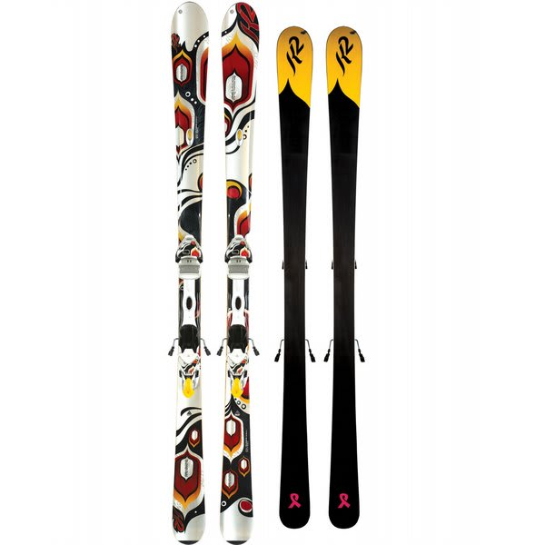 K2 T9 Burnin Luv Skis w/ Marker Maker 11.0 TC ERS Bindings