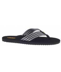Keen Cabo Flip Sandals Black Houndstooth