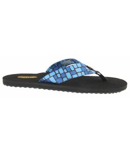 Keen Cabo Flip Sandals Blue Block Print