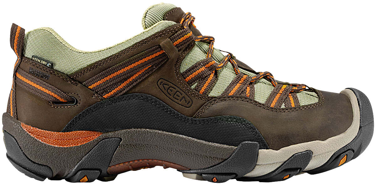 Shop for Keen Red Rock Low WP Hiking Shoes Black Olive/Rust - Men's