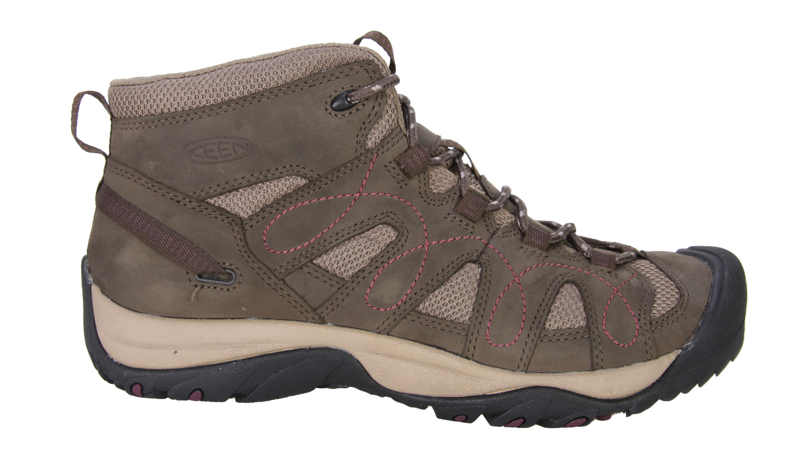 Shop for Keen Shasta Mid Hiking Shoes Black Olive/Brindle - Women's