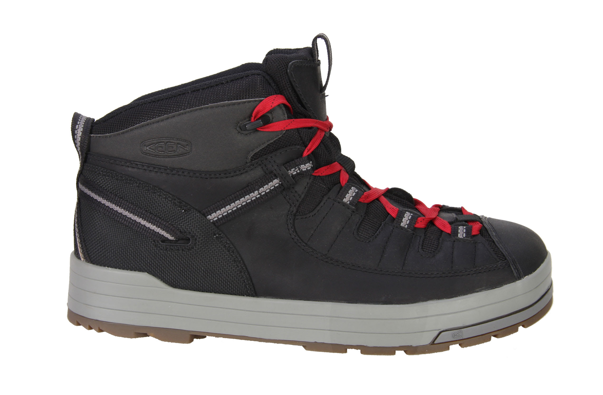 Shop for Keen The Dan Hiking Shoes Black Jester Red - Men's