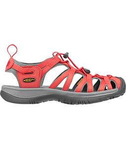 Keen Whisper Sandals Hot Coral/Neutral Gray