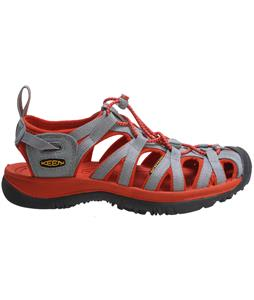 Keen Whisper Sandals Neutral Gray/Red Clay