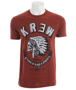 KR3W Black Feather Heather T-Shirt Brick Heather