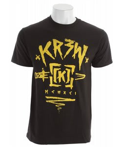 KR3W Buckknife Regular T-Shirt Black