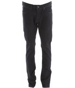 KR3W K Slim Jeans Black Coated Blue
