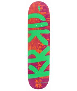 Krooked Kueu Up Med Skateboard Orange/Purple/Lime 7.75