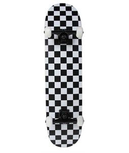 Krown Checkered Skateboard Complete Black/White