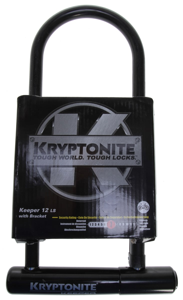 on sale kryptonite keeper long shackle u lock bike lock 4x11 5. Black Bedroom Furniture Sets. Home Design Ideas