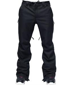 L1 Chino Snowboard Pants Black Stretch Twill