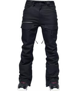 L1 Skinny Cargo Snowboard Pants Black Stretch Twill