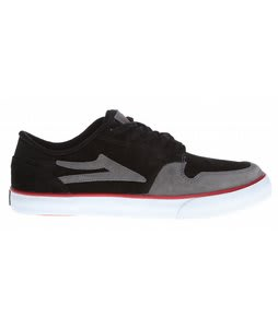 Lakai Carroll 5 Skate Shoes Black/Grey Suede