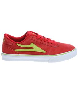 Lakai Manchester Skate Shoes Red/Lime Suede
