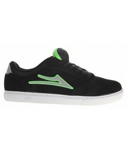 Lakai Mike Mo Skate Shoes Black/Lime Suede