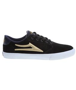 Lakai Pico Skate Shoes Black/Gold Suede
