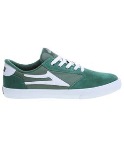 Lakai Pico Skate Shoes Green/White Suede